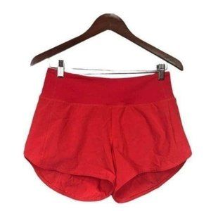 Lululemon Speed Up MR Shorts Carnation Red Size 6 Tall Brand New